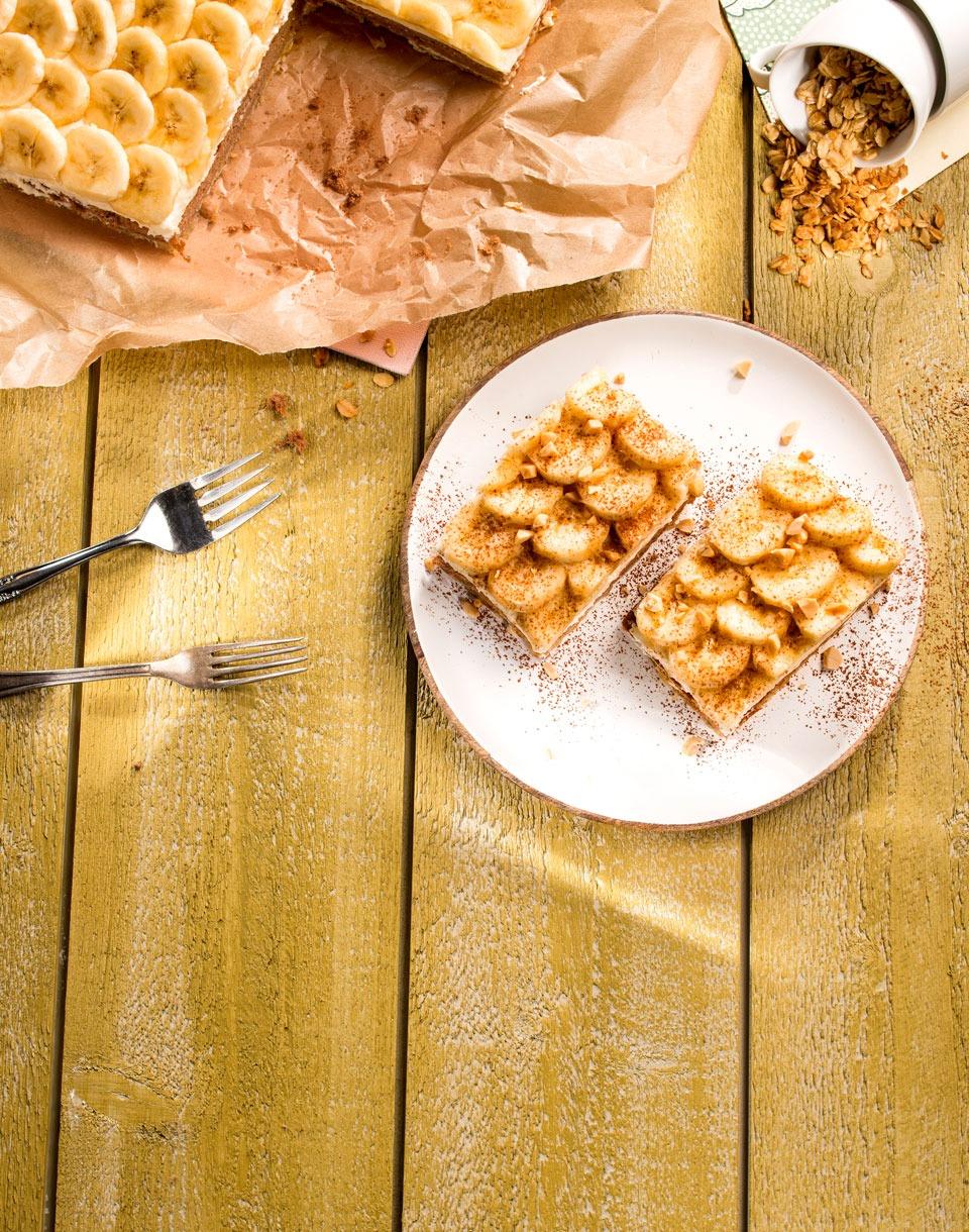 Erdnuss-Bananenschnitte