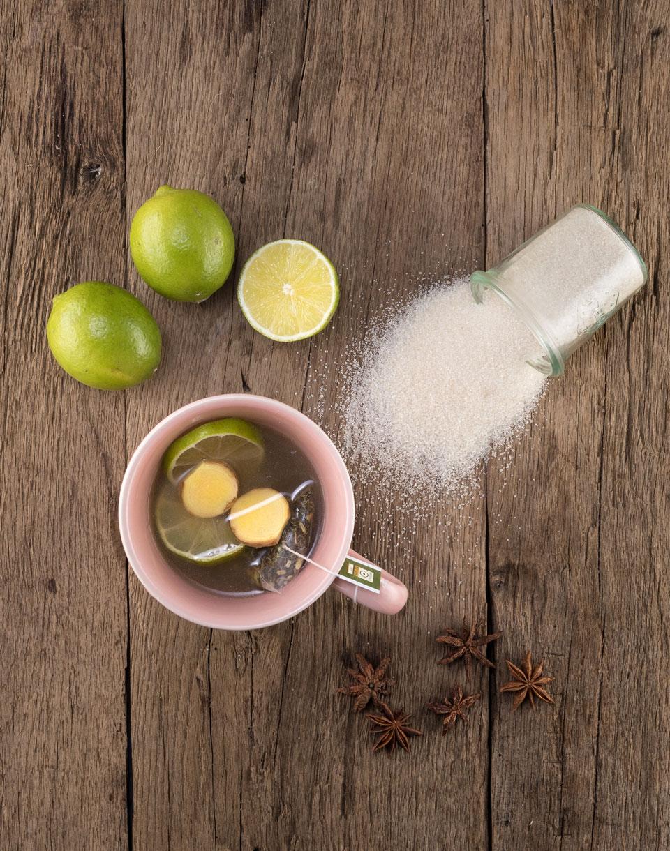 Ingwer-Limettetee