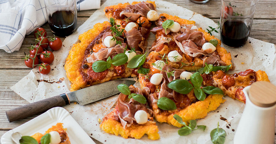 Polenta-Pizza
